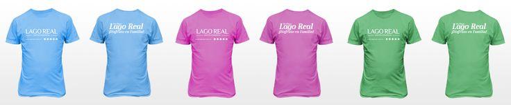 Diseño de playeras para campaña de Plaza Lago Real: Disfruta en Familia