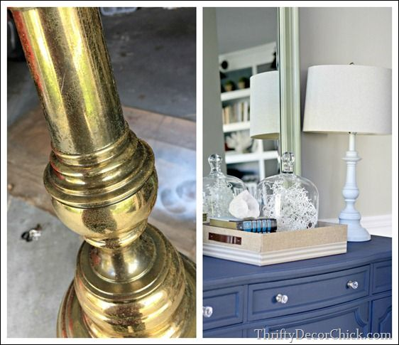 love spray painting metal how to spray paint diy painting brass lamp. Black Bedroom Furniture Sets. Home Design Ideas