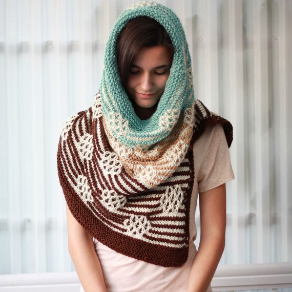 Knitting pattern Patron tricot PDF  Serenity Cowl by TheEasyDesign