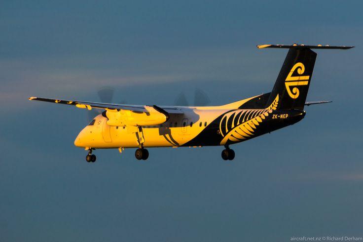Air Nelson Q300 arriving at Christchurch Type: De Havilland Canada DHC-8-311Q Dash 8 Registration: ZK-NEP Location: Christchurch International Airport Date: 18/06/2017