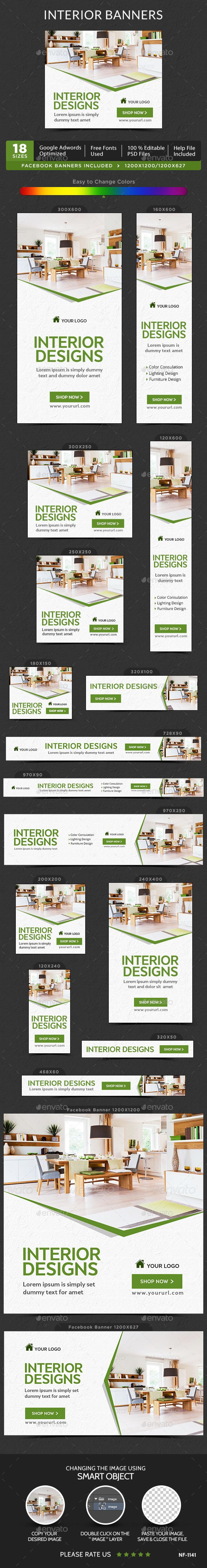 Interior Web Banners Template PSD. Download here: http://graphicriver.net/item/interior-banners/15123024?ref=ksioks