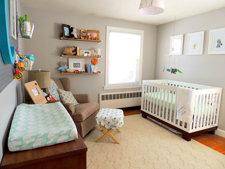 Project Nursery - Transitional Gray, Mint and Navy Baby Boy Nursery