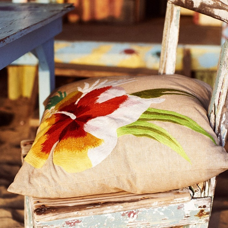 Pacific flower jute cushion  (this one I actually got for the home already :)