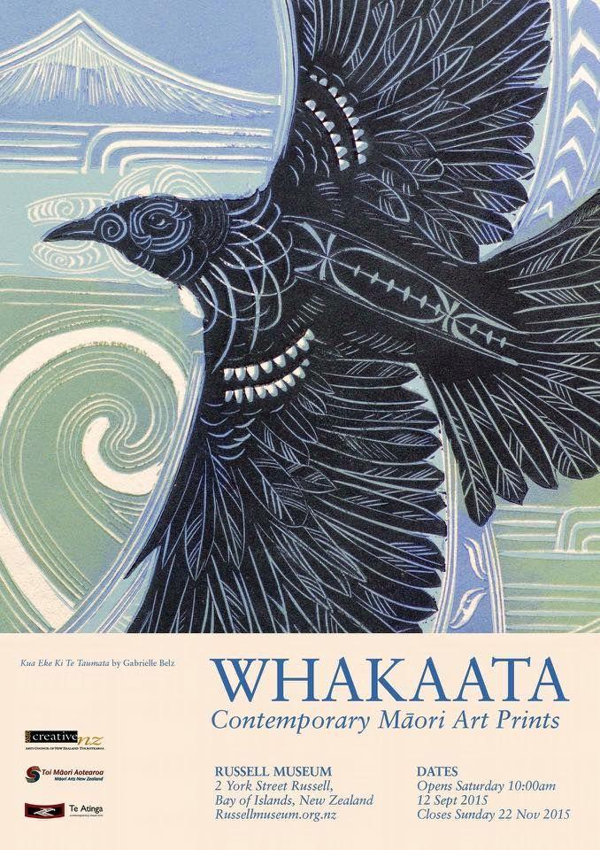 New Zealand Printmakers: Whakaata (Contemporary Maori Art Prints), 12Sept-22Nov, Bay of Islands