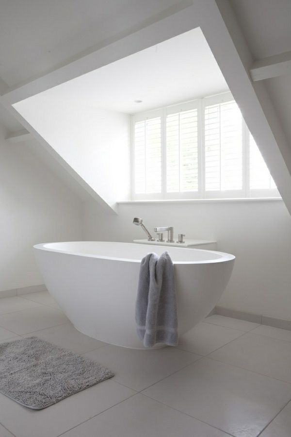 bath under all pitched roof in white