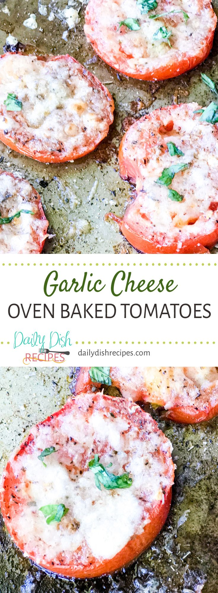These Garlic Cheese Oven Baked Tomatoes are the bo…Edit description
