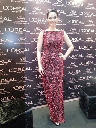 Maudy Koesnaedi Duta L'Oreal Cannes 2013