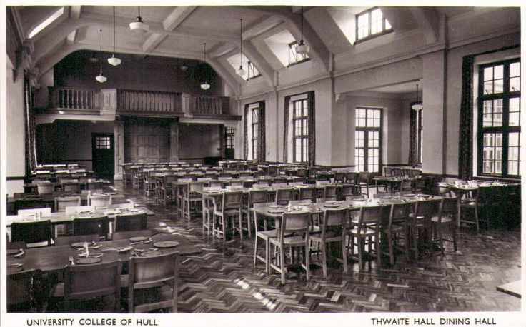 University College of Hull, Thwaite Hall dining Hall.jpg | by Historic Images