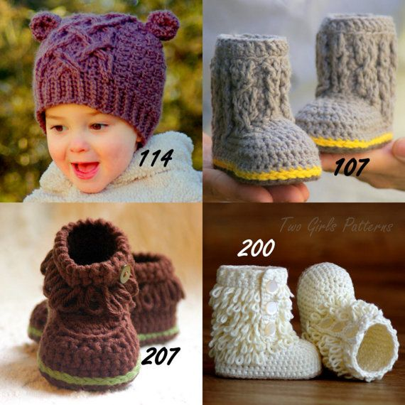 Crochet patterns Any 4 crochet Patterns from our