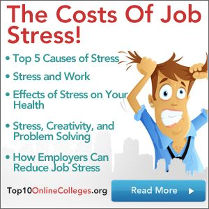 Job stress, the 1st cause of stress in the U.S., is a leading factor in poor health and reduced creativity and problem solving ability, costing American businesses $300 billion dollars a year.