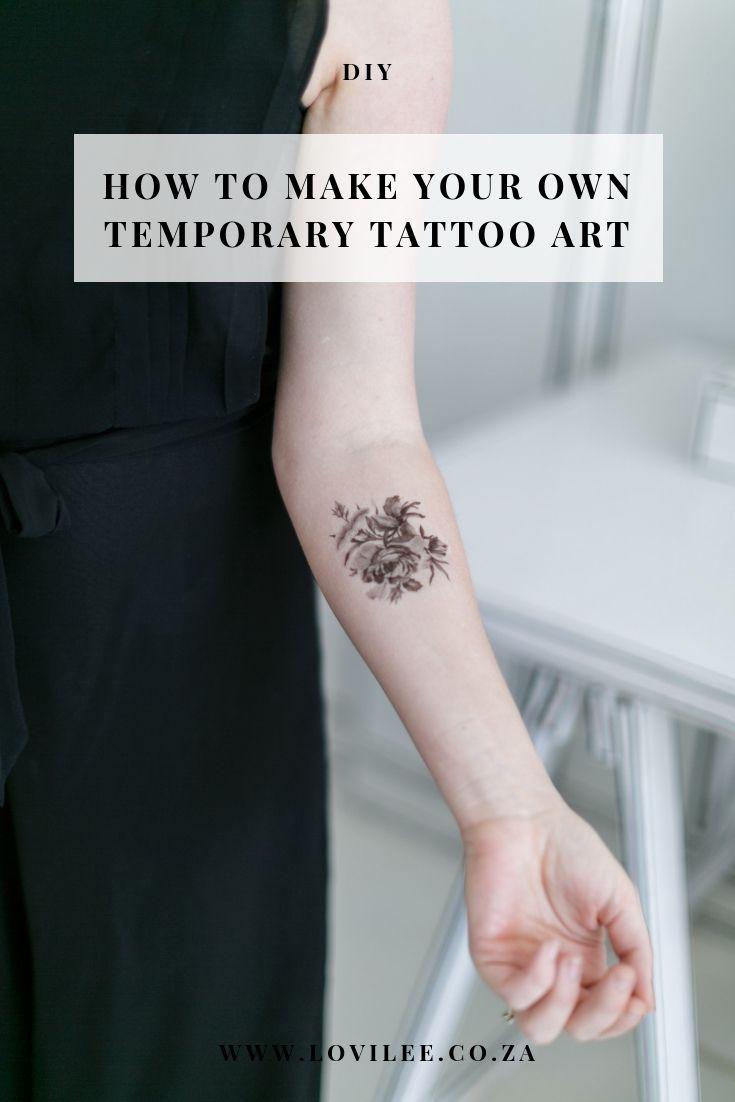 How To Make Temporary Tattoos Tattoos For Kids Make Temporary