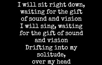 David Bowie texten till Ljud och Bild .: