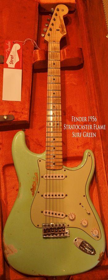 1956 Fender Stratocaster Surf Green www.vintageandrare.com