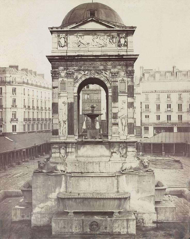 Charles Marville 1858 - Fontaine des Innocents, Paris, France