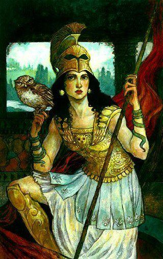 Athena - Greek goddess of wisdom and war - believed by some academics to have originated from a littoral north African bird goddess - was frequently associated with an owl. While this may have been a holdover from a presumed avian origin, the owl has subsequently become a symbol of wisdom due to association with the goddess.