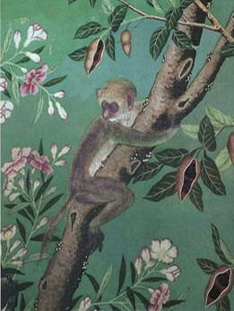 hand painted silk chinoiserie wallpaper