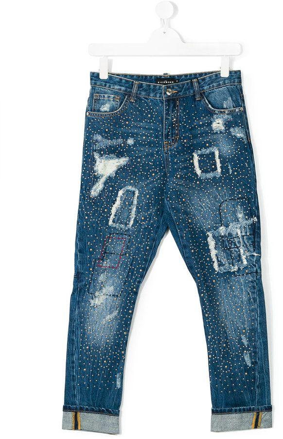 John Richmond Kids studded jeans