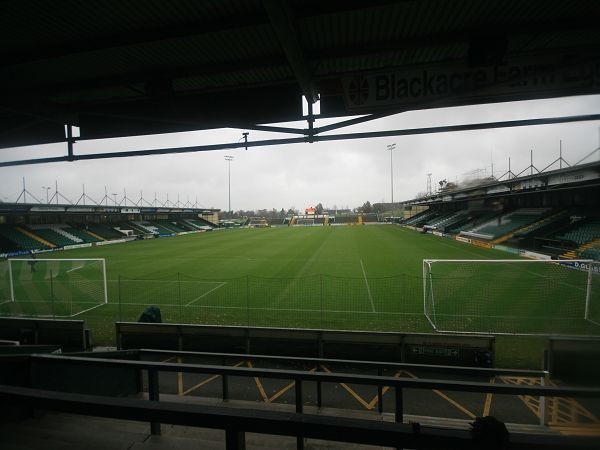 Until 1990 Yeovil played on a pitch that sloped by eight feet from one side to the other. These days the Glovers play on a distinctly level playing field!