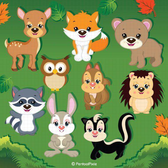 Woodland Animals Clipart Animal Clipart Cute Animals Animals