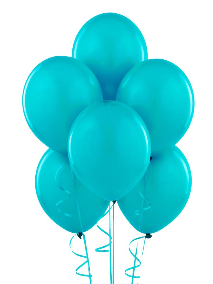 Bermuda Blue Turquoise Matte Balloons Grouped Of This Color Dark And Light Maybe White Or Just Ribbon