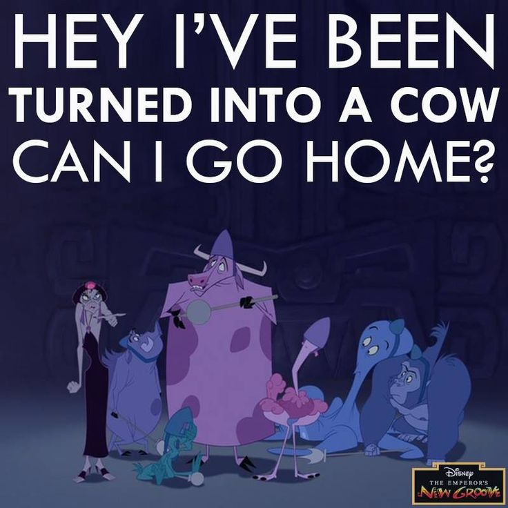 The Emperors New Groove I've Been Turned Into A Cow