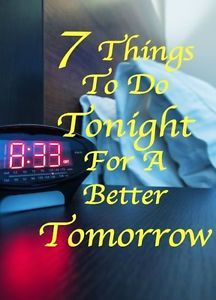7 Things To Do Tonight For A Better Tomorrow - not sure why this is on eBay, but it is a really good list abd a great reminder to me going back into the school year.