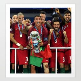Portugal Euro 2016 Champions Art Print