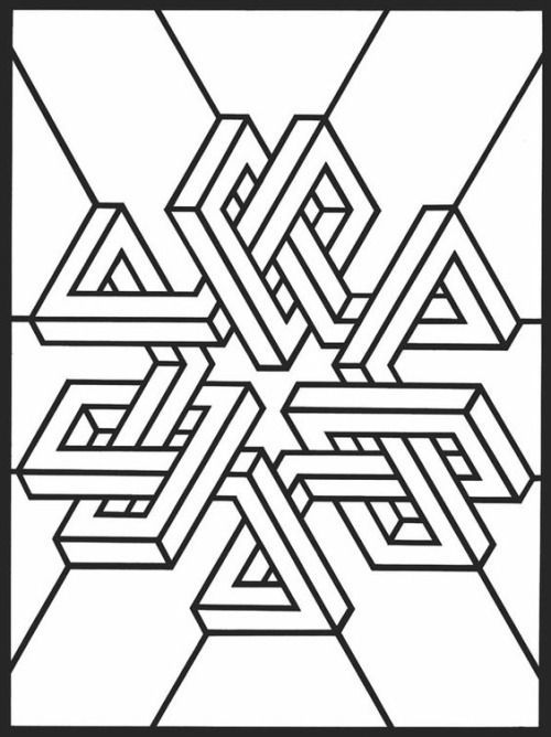 geometric design colouring pictures stained glass colouring pages