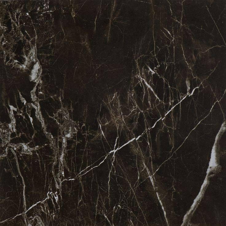 #Bricmate M33 Noir St. Laurent 30x30. Marmorinspirerad granitkeramik med härlig variation. Sammetslen yta likt en slipad marmor.