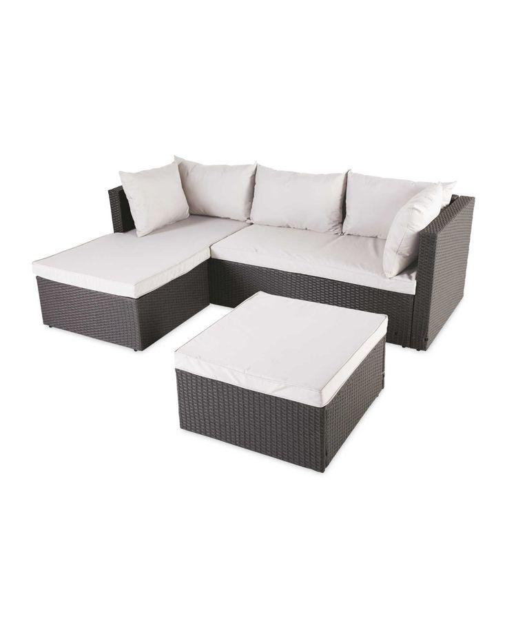 Rattan Corner Sofa, Small Corner Garden Furniture Uk