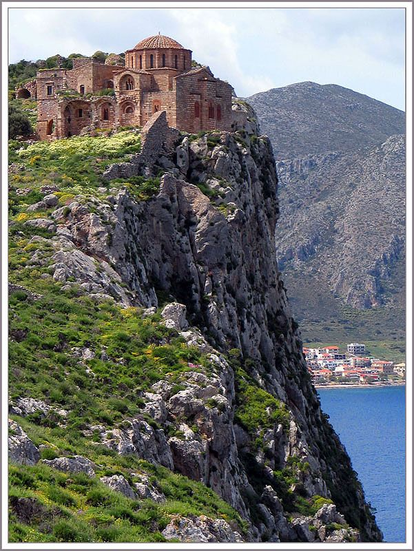 Hagia Sophia in Monemvasia, it's history begins in 360 AD, but is primarily in the Middle Ages, so it's here.