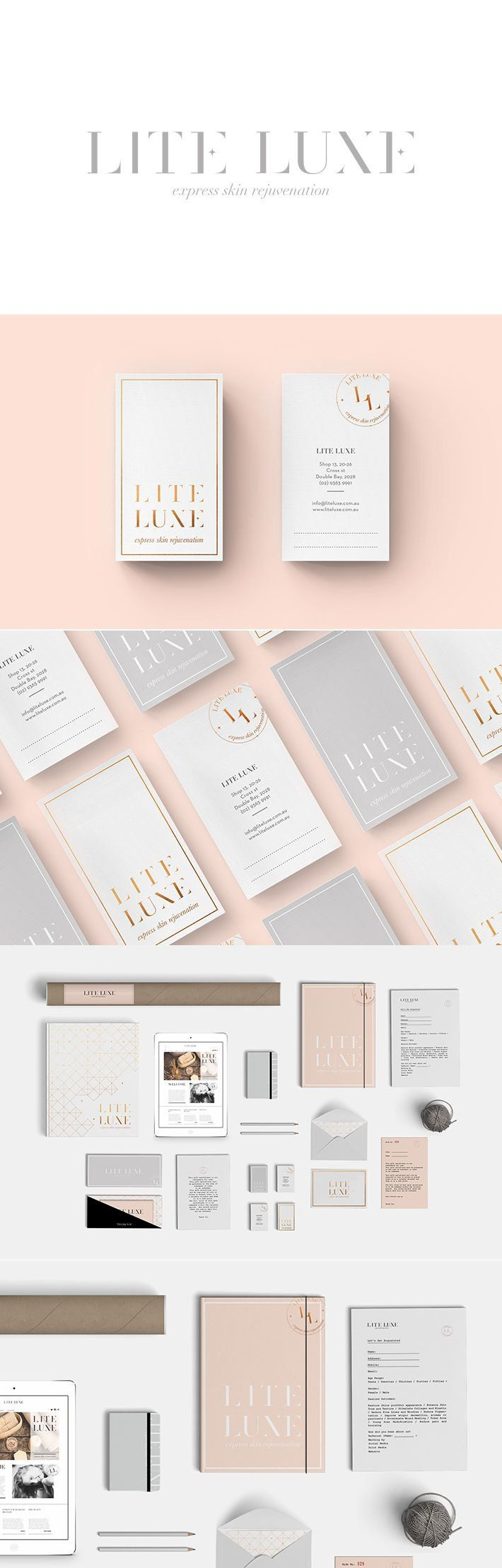 Smack Bang Designs for women's skin rejuvenation service 'Lite Luxe'.