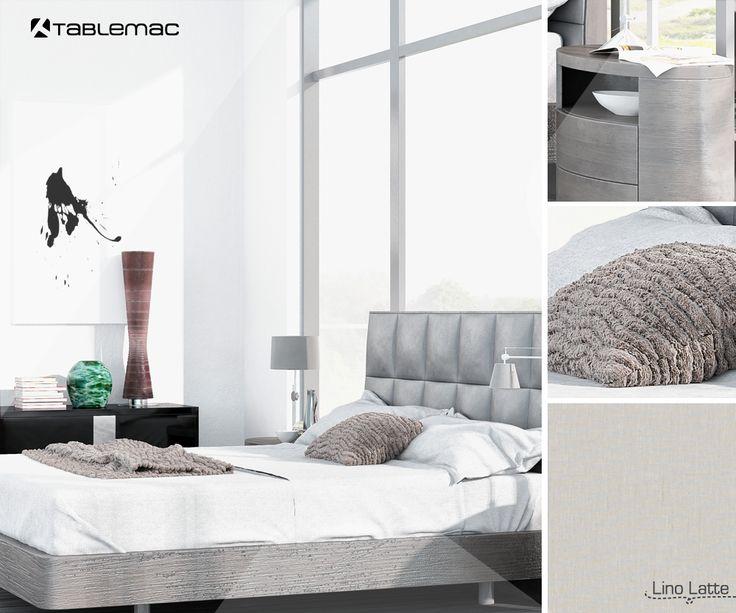 Genera una sensación de confort y elegancia en tus espacios, combinando colores naturales con nuestro diseño Lino Latte.