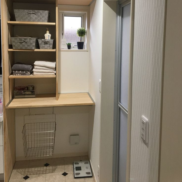 Bathroom/ダイソー/ニトリ/シンプル/脱衣場収納棚/収納棚...などのインテリア実例 - 2017-09-09 08:26:03