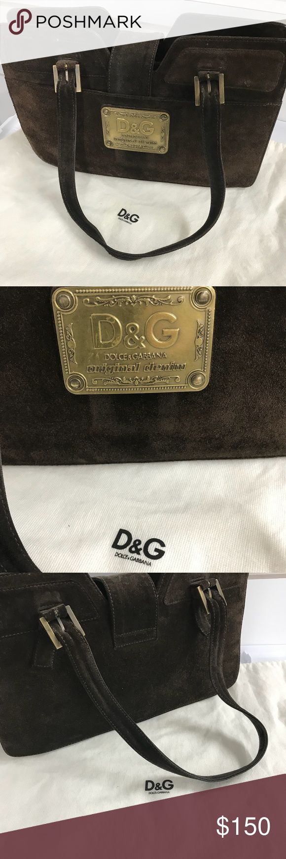 Dolce&Gabana brown suede satchel Good condition Dolce & Gabbana Bags Satchels