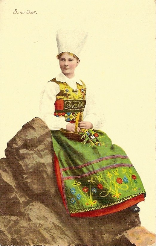 Folk dress of Österåker, Södermanland, Sweden.
