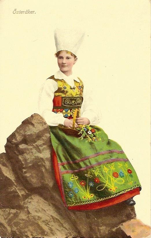 Folk dress of Österåker, Södermanland, Sweden.