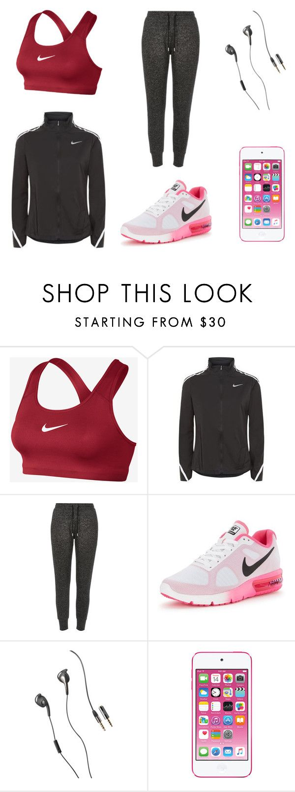 """""""sporty chic"""" by ferranong on Polyvore featuring NIKE, River Island and Jabra"""