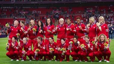 Team Canada Woman's Soccer Bronze ~ 2012 Olympics