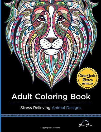 Adult Coloring Book Stress Relieving Animal Designs By B