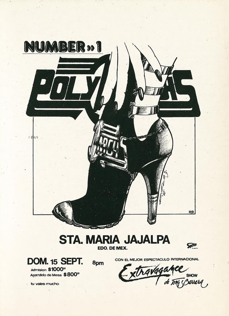 Polymarchs – Sound system flyers from Mexico City