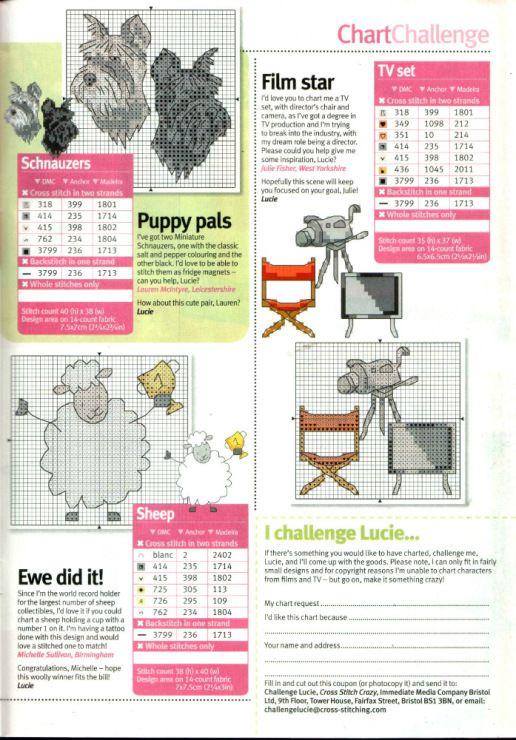 Various motifs free cross stitch patterns