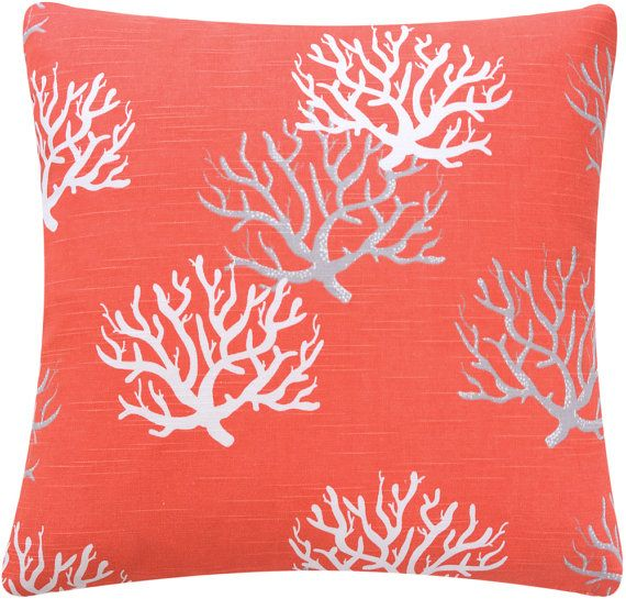 Star Fish Coral Throw Pillow Cover 18 by ChloeandOliveDotCom