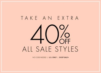 Ann Taylor Extra 40% off all Sale styles