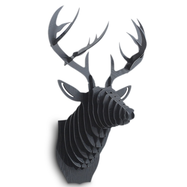 3D Faux Deer Head - Black at the Foundary