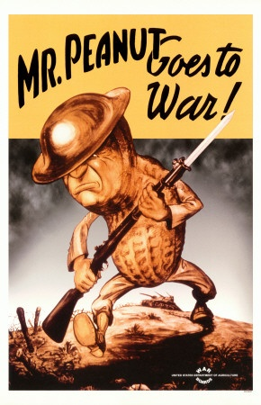 WWII MR. PEANUT GOES TO WAR !!!