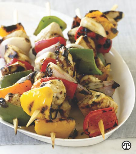 These chicken and Pepper Kebabs are not only charred and tasty, but also a great way to eat healthy during the summer.