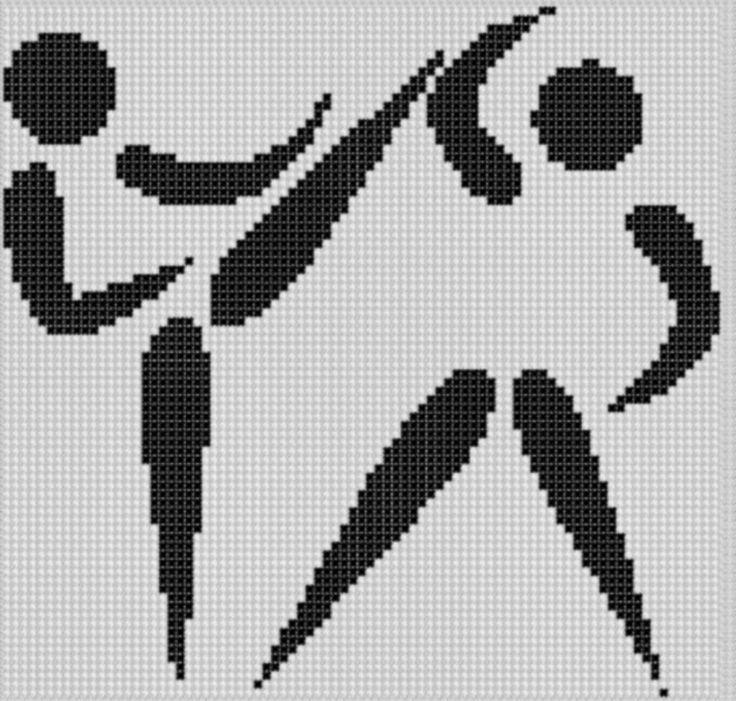Karate Sparring Cross Stitch Pattern