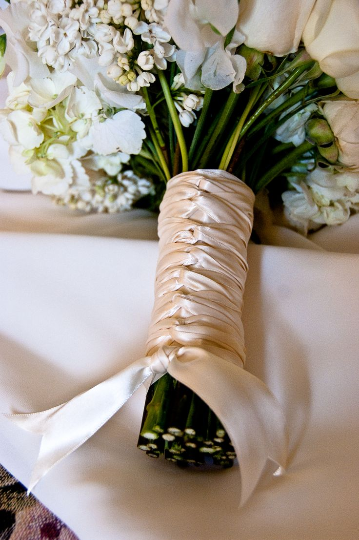 How To Wrap Bridal Bouquet With Ribbon : Images about bouquet ribbons stems on