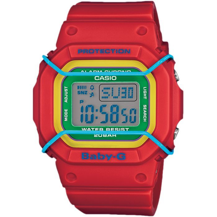 Casio Baby-G Red Ladies Watch BGD-501-4BER | Buy from Hollins & Hollinshead Jewellers | Authorised Casio watches stockist | Free UK delivery